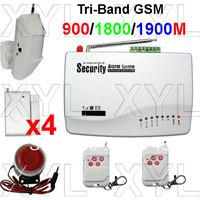 Free registration GSM Wireless Home Alarm Security Burglar Alarm System Auto Dialing SMS Call Via 03