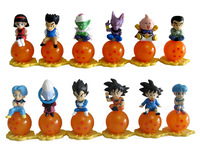 Dragonball Dragon ball Z collection 12 pcs mini figures sitting balls Goku Trunks piccolo Gohan Goten Majin Buu