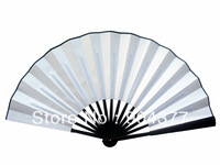 10pcs/lot Free shipping Big DIY Hand Fan White Folding Fans Chinese Silk Fan Decorative Fan Fine Art Painting Fan