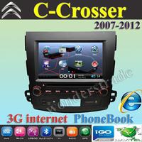 "8"" Car DVD player GPS autoradio GPS navigation  for Citroen C-Croser / 3G internet / Free shipping map"