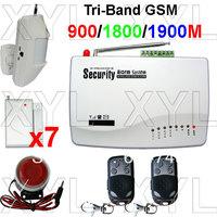 Free registration GSM Wireless Home Alarm Security Burglar Alarm System Auto Dialing SMS Call Via 14