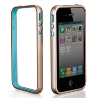 Acme ultra-thin metal bezel double color cover shell case for iphone 4/4s free shipping