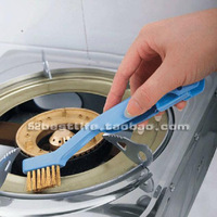 High quality kitchen countertops gas furnace brass steel wire brush gas stove cleaning brush folding belt scraper