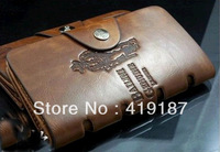 Brand genuine Leather New Wallet for men + Free Shipping wholesale + Gent Leather purses~Best choice