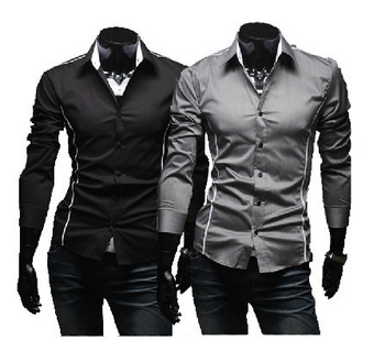 2012 hot sale Free Shipping New Mens Shirts Casual Slim Fit Stylish Mens Dress Shirts