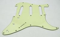ST Style 3Ply Light Mint Green Strat Pickguard SSS 11 Hole M449