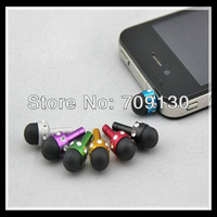 100pcs/lot Mini Diamond Capacitive Touch Pen with Dust Plug for Capacitive Screen for Iphone Ipad Tablet &Samsung HTC