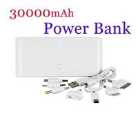 30000mAh power bank Portable Power charger external Backup Battery For Nokia , Micro USB, Samsung, Mini USB, iPod,