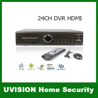 24CH H.264 HDMI Port Surveillance CIF PTZ Realtime 3G WIFI Stand-alone DVR Support Mobile Phone View free shipping