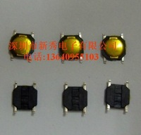 Free shipping 100pcs 100pcs Tact Switch SMT SMD Tactile membrane switch PUSH Button SPST-NO 4mmx4mmx0.8mm