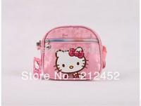 2015 Hot selling 1pcs Free Shipping Hello Kitty Handbag girl shoulder bag children's cute lovely cartoon bag