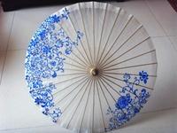 Technology umbrella classic blue and white oiled paper umbrella