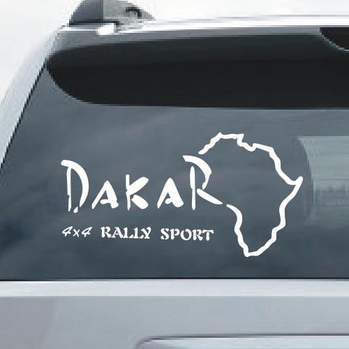 Off-road dakar map four-wheel drive car sticker reflective car ...