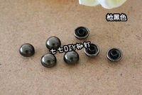 Sunflower 100PCS/LOT Punk style Rivet bag shoes clothing diy  materials mushroom nail rivet gun black measurement