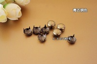 Sunflower 100PCS/LOT Punk style Rivet Diy rivet bag materials rivets mushroom circle claw nails antique brass