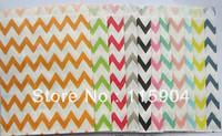Paper Popcorn Bags 11 chevron   Designs  600pcs  Light Blue~Lime Green~Yellow~Orange~Light Pink~Hot Pink~Red~Black