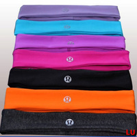 Free Shipping EMS 60pcs/lot Wholesale Lululemon Lucky Yoga Headband Brand Lulu Women Fit Hair Band Sportswear Top Quality