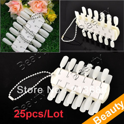 25pcs/Lot Salon DIY Portable Polish 24 Nail Art Design Tips Practice Display Palette Tool Free Shipping 4904(China (Mainland))