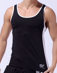 Free shipping men's vest movement elastic milk silk bodybuilding multicolor(China (Mainland))