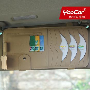 Car yoocar cd bag genuine leather cd folder sun-shading board cover car cd set cd sun-shading board clip