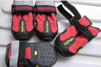 New Dog's Shoes,Pet Shoes,Pet Boots 4pcs/set Anti Slip Skid Waterproof Bottom Black,Red #9222