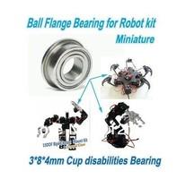 Robot Bearing 3 *8 * 4mm Cup Disabilities Bearing Ball Flange Bearing Mount kit   4 PCS~~