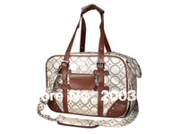 Beige circle pattern jacquard polyester Pet Dogs Carrier Bag