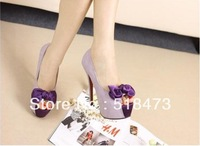 Free shipping Super high heels bowknot single shoes for women's shoes