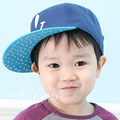 2013 Free shipping Baby lovely fashion baseball cotton caps boy girl kids cute smiling hiphop cap Korean hats retail wholesale