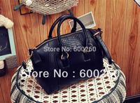2013 women's fashion brief crocodile pattern shoulder bag leather bag free shipping 5364