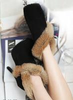 High-heeled shoes platform thin heels shoes fashion thin heels black round toe leopard print women's shoes Free shipping