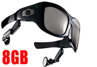8GB MP3 Video camera rcording sunglasses eyewear 5.0 MP camera 720P video recording free shipping