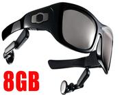 8GB MP3 Video camera rcording sunglasses eyewear 5.0 MP camera 720P video recording free shipping
