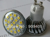 Wholesale Freeshipping LED Spotlight 20SMD 5050 LED Lamp GU10 Base Warm Cool White With Cover High Brightness 50PCS/Lot Hot Sale
