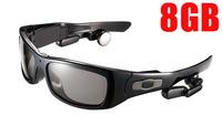 Free shipping 8GB sunglasses MP3 with 5.0 MP camera 1280*720P video recorder
