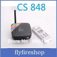 CS848 Android 4.1 TV Box Rockchip RK3066 1.6ZGhz Dual core 1GB RAM 8GB ROM Bluetooth WiFi Ethernet interface HDMI AV port