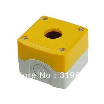 Yellow Gray Plastic 1 Push Button Switch Control Station Box Case