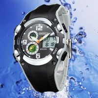 OHSEN  Mens New  LED Backlight Analog & Digital Multifunction  Alarm Waterproof Sport Watch AD1309-1