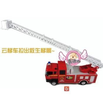 Acoustooptical fire truck alloy car models toy car model music car door