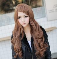 Cute wig high temperature wire long curly hair fluffy curls wig repair