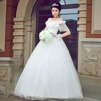 Plus size bride wedding dress 2012 winter bag shoulder strap bandage formal dress a1303