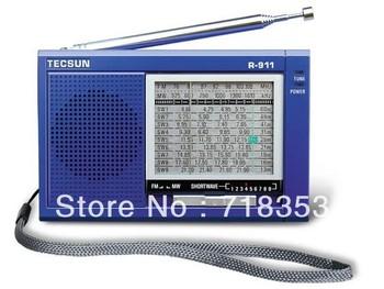 TECSUN/R-911/Original Guarantee,AM/ FM / Shortwave (11 bands) Multi Bands Radio receiver broadcast;***Free Shipping