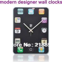 Hot !!! Ipad Shape Wall Clock Tablet Screen Clock Home Decorations DIY Clock ,Clock In The Living Room,Wall Art