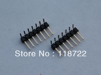 Free shipping  200pcs 1*40pin male Pin Header,single row ,Right Angle, 2.54mm pitch,Low Profile