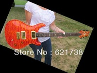 best guitar Private Stock Custom 22 Orange Quilt Brazilian Fret 5708 Matching Headstock OEM Available Cheap