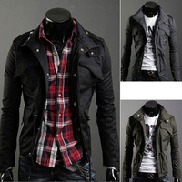 Hot Selling Casual Men's Jackets Slim Sexy Top Designed Men's Jacket Men Fashion Coat Cool Men's Clothing 4 Colors M~XXL