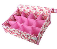 min. order is $10(mix order) F1056 storage 12 small flower underwear storage box 135g