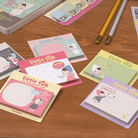 min. order is $10(mix order) Little girl f1306 talk sticky notes on paper n times stickers korea stationery 15g