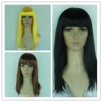 Festival wig long straight hair dance party wig model wig cos wig multicolor