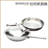 Platinum bodeux cooking pots and pans set twinset platinum wok royal fry pan flat bottom pot